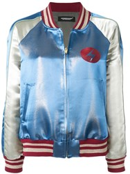 Undercover Bowie Bomber Jacket Blue