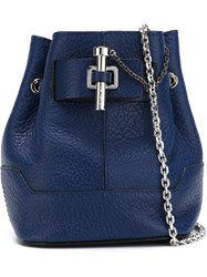 Carven Mini Pin Detail Crossbody Bag Blue
