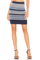 Bcbgeneration Plaited Striped Skirt Blue