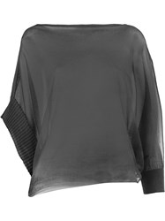 Lost And Found Ria Dunn Asymmetric Knitted Top Black