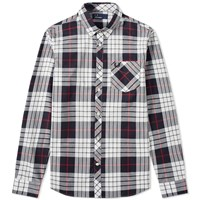 Fred Perry Tartan Check Pocket Shirt Black