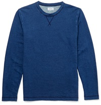 Hartford Cotton Jersey Sweatshirt Blue