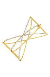 Louise Et Cie Micro Pave Starburst Cuff Gold Crystal