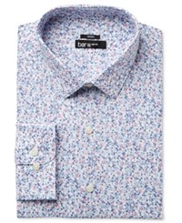 Bar Iii Men's Slim Fit Stretch Purple Dandy Floral Dress Shirt Only At Macy's