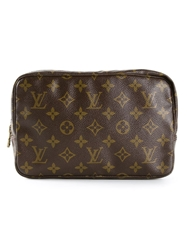 Louis Vuitton Vintage Monogram 'Trousse 23' Cosmetic Bag Brown