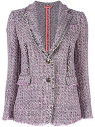 Etro Tweed Blazer Pink Purple