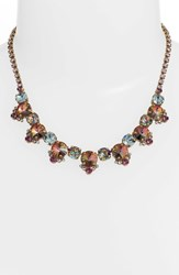 Sorrelli Regal Rounds Crystal Necklace Purple Multi