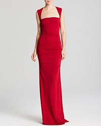 Nicole Miller Gown Sleeveless Stretch Red