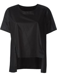 Y 3 High Low Hem Top Black