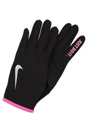 Nike Performance Rival Gloves Black Hyper Pink Silver Anthracite