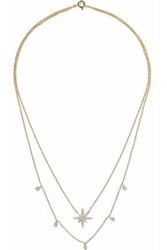 Cz By Kenneth Jay Lane Gold Tone Crystal Necklace Gold