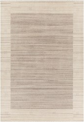 Chandra Elantra 51700 Patterned Rectangular Knotted Wool Area Rug Brown