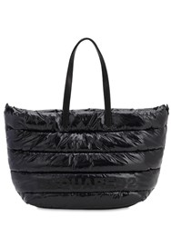 Dsquared Miss Logo Vinyl Tote Bag Black