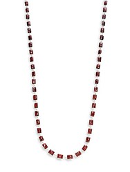 Stephen Dweck Classic Strand Garnet And Sterling Silver Necklace Red
