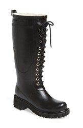 Women's Ilse Jacobsen Waterproof Lace Up Snow Rain Boot 2 1 2' Heel