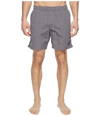 The North Face Class V Pull On Trunk Zinc Grey Linen Print Men's Swimwear Gray