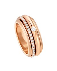 Piaget Possession Turning Band Ring With Diamonds In 18K Red Gold