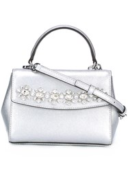 Michael Michael Kors Embellished Crossbody Bag Grey