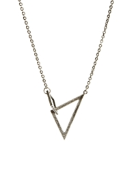 Cheap Monday Geometry Necklace Silver