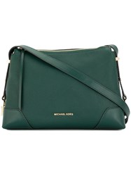 Michael Kors Crosby Medium Shoulder Bag Green
