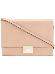 Emporio Armani Flap Shoulder Bag Cotton Bos Taurus Nude Neutrals