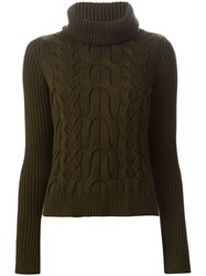 Alexander Mcqueen Cable Knit Sweater Green