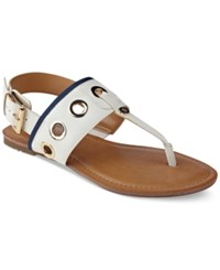 Tommy Hilfiger Lerry Flat Sandals Women's Shoes White
