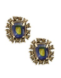 Gerard Yosca Geometric Stud Earrings Gold