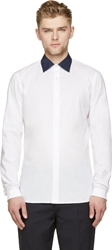Kolor White Contrast Collar Shirt