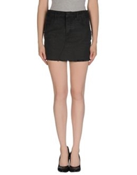 Ring Denim Skirts Black