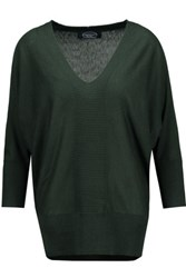 Magaschoni Silk And Cashmere Blend Sweater Emerald
