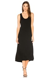 Enza Costa Midi Tank Dress Black