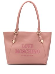Love Moschino Embroidered Logo Tote 60