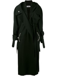 Preen By Thornton Bregazzi Embellished Coat Black