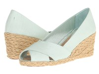 Lauren Ralph Lauren Cecilia Mint Shantung Women's Wedge Shoes Green
