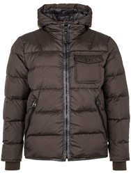 Marc O'polo Down Jacket With Adjustable Hem Medium Brown