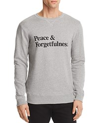 Soulland Omelette Peace And Forgetfulness Graphic Sweatshirt Gray