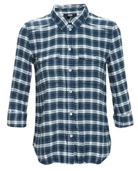 Paige Checked Shirt Blue White Green Denim