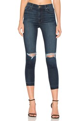 Joe's Jeans The Charlie High Rise Crop Skinny Distressed Medium Blue