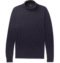 Dunhill Wool Rollneck Sweater Blue