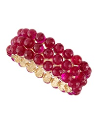 Fragments For Neiman Marcus Fragments Disco Ball Beaded Stretch Bracelet Fuchsia