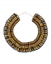 Nakamol Beaded Statement Collar Necklace Black