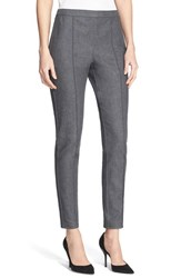 Women's St. John Collection 'Alexa' Denim Ankle Pants Grey