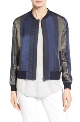 Nordstrom Women's Collection Stripe Woven Bomber Jacket