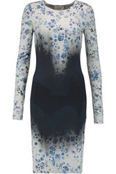 Preen By Thornton Bregazzi Ombre And Floral Print Stretch Jersey Dress Multi