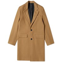 Ami Alexandre Mattiussi Wool Overcoat Brown