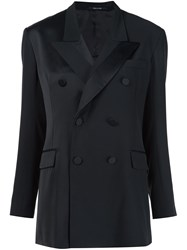 Maison Martin Margiela Double Breasted Blazer Black