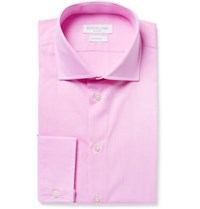 Richard James Pink Cutaway Collar Cotton Poplin Shirt Pink