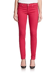 Hudson Nico Mid Rise Super Skinny Jeans Drama Queen Red