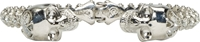 Alexander Mcqueen Silver And Crystal Studded Skull Cuff